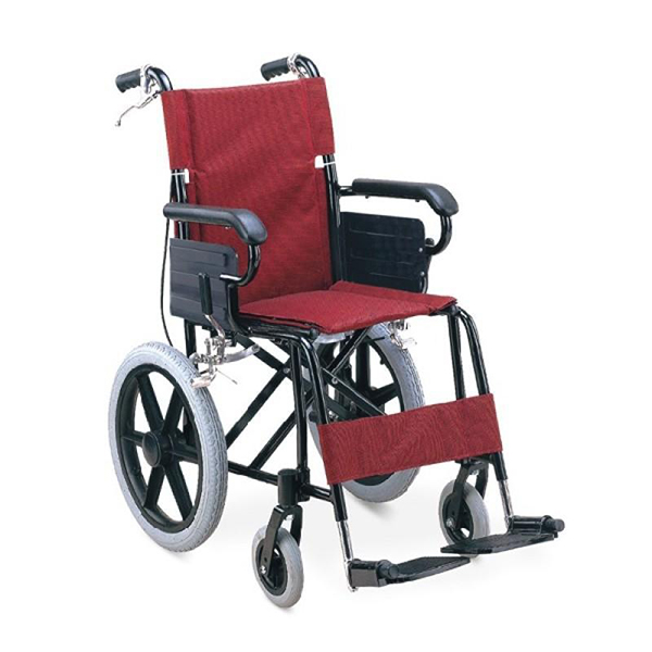 Wheel Chair Folding With Fixed Arm Rest And Foot Rest Attendant Chair FS871LBJ