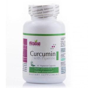 Zenith Nutrition Curcumin With Piperine GCo 60 Capsules
