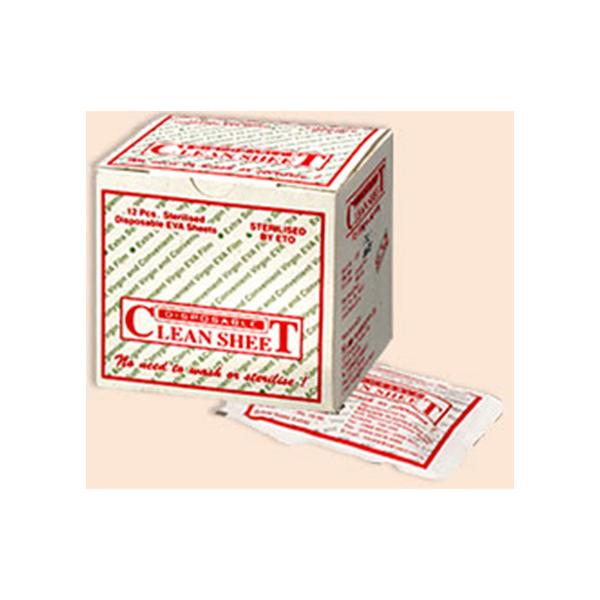 CLEAN SHEET STERILE – 1 BOX Contains 12 Pcs