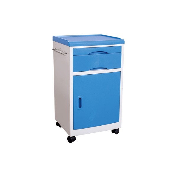 Blue and White ABS Bedside Locker for Hospitals and Clinics