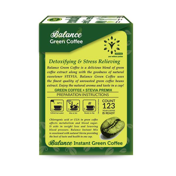 Balance Instant Green Coffee With Stevia 4