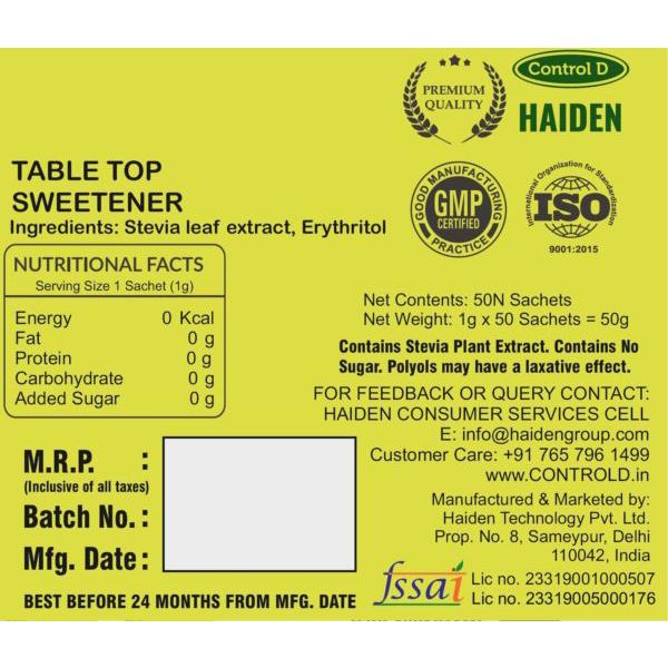 Balance Sugarless Stevia Sachets 3