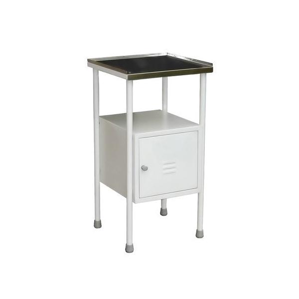 Bedside Locker Regular Top SS Base MS – 15x 12x 30 Stainless Steel 1