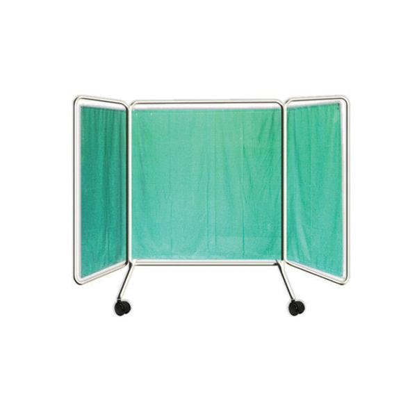 Bedside Screen With Cloth 3 Fold 20 40 20 Powder Coated