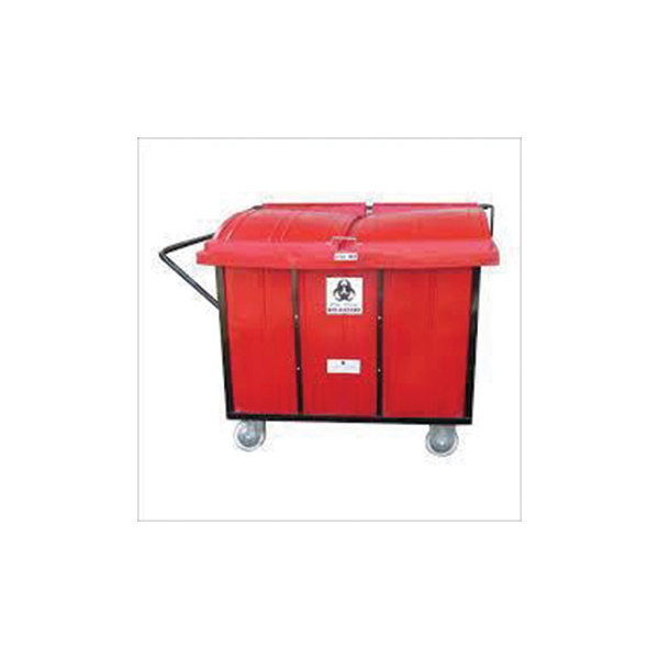 Bio Waste Collect Trolley – 2 Drum Stainless Steel