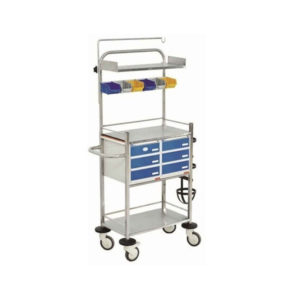 CRASH CART WITH SS DRAWERS 2