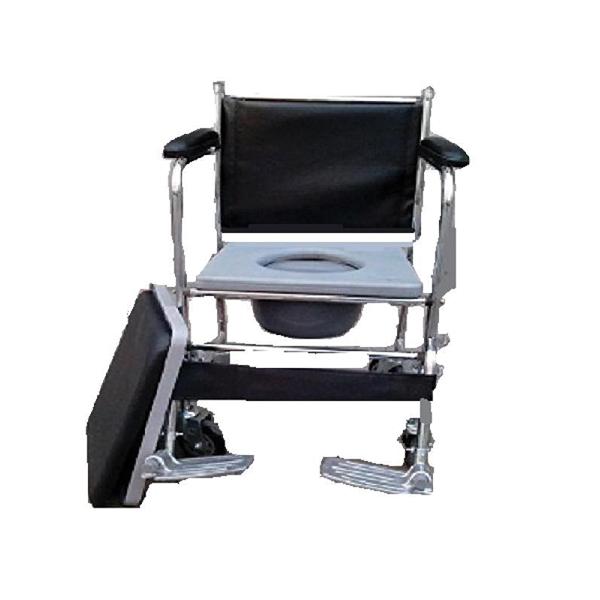 Commode Chair Detachable ArmrestFootrest Back Rest With Wheel FS 692