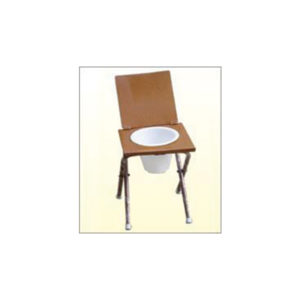 Commode Chair Non Folding M.S. Top