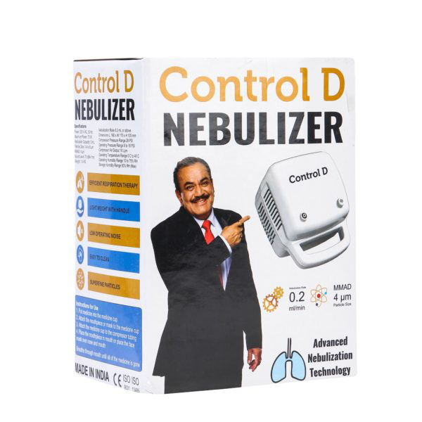 Control D Compressor Nebulizer With Child And Adult Mask Best Nebulizers In India 11
