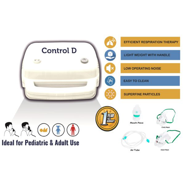 Control D Compressor Nebulizer With Child And Adult Mask Best Nebulizers In India 13 2
