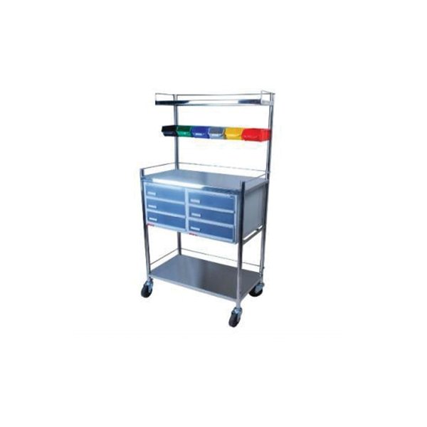 Crash Cart – Six Colour Binns – Alkon Drawers