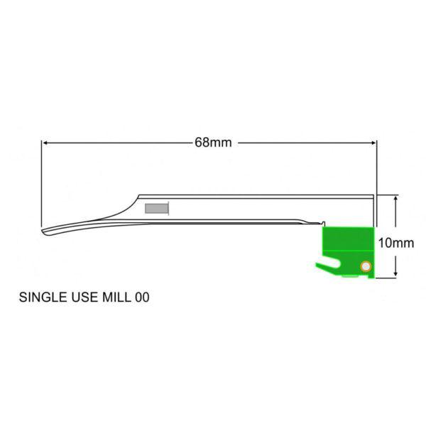DLITE® F.O SINGLE USE MILLER BLADE – 70.700.101 2 1