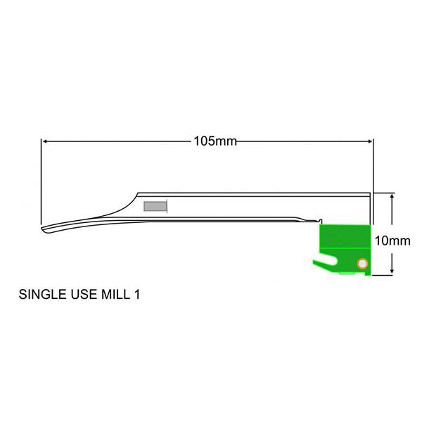 DLITE® F.O SINGLE USE MILLER BLADE – 70.700.102 2