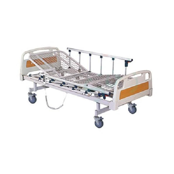 Full Fowler Cot with Abs Panel with Wheels and Side Railing Imported
