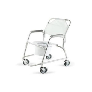 Invalid Shower Chair Adj. Height Folding SS
