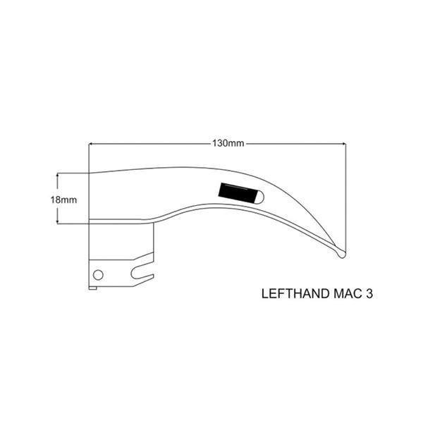 LEDLITE® C LEFT HAND MACINTOSH BLADE – 80.150.603 2