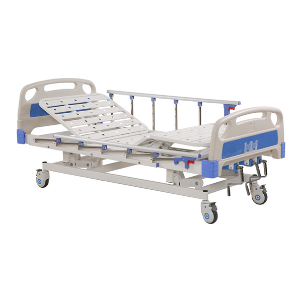 Height Adjustable Manual Icu Bed 3 Function for Hospital