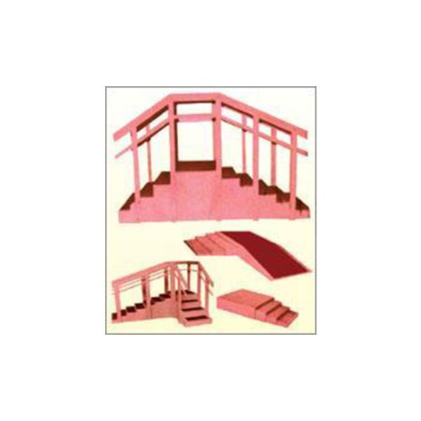 Nautical Cum Staircase Straight Type Holder Wheel Wall