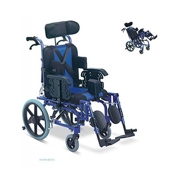 Reclining High Back Wheel Chair With Detachable Foot Rest FS958