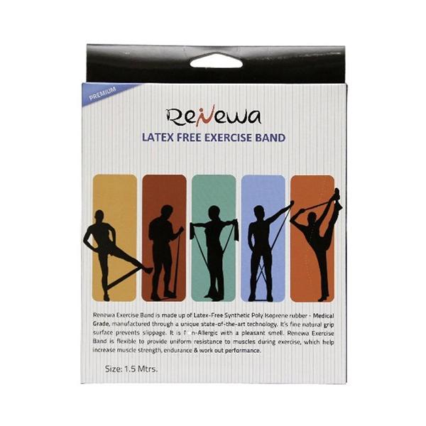 Renewa Latex Free Exercise Band Black