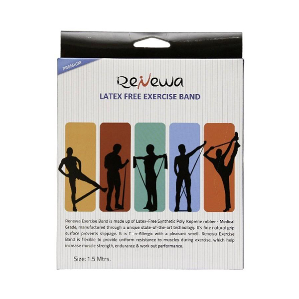 Renewa Latex Free Exercise Band Blue