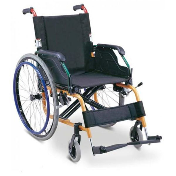 Wheel Chair Folding With Detachable Arm Rest And Foot Rest 980LA