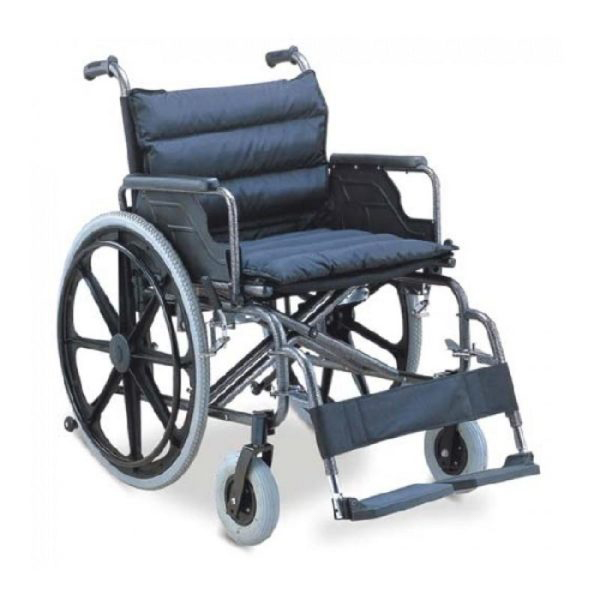 Wheel Chair Folding With Detachable Armrest And Foot Rest With Extra Wide 951B