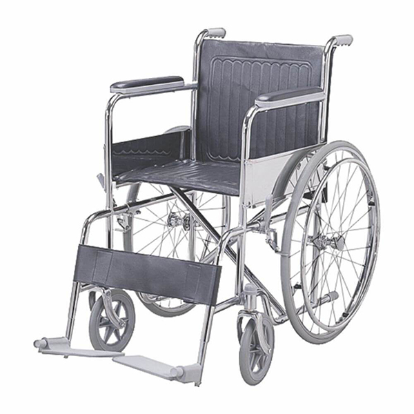 Wheel Chair Folding With Fixed Arm Rest And Foot Rest GCo ATTENDANT CHAIR FS800