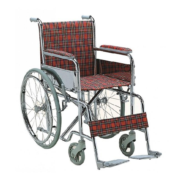 Wheel Chair Folding With Fixed Arm Rest And Foot Rest GCo Child FS802