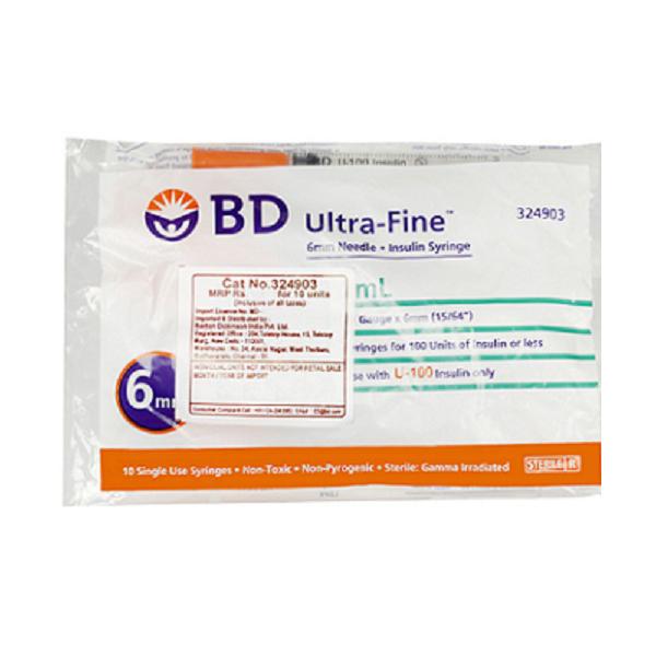 B.D Insulin Syringe U100 1cc 31G 8mm 1