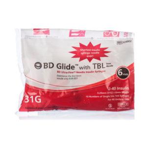 B.D Insulin Syringe U40 10S Pa 31G 6mm 1