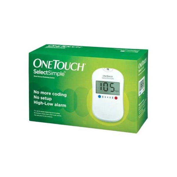OneTouch Select Simple Glucometer With 25 Test Strips Glucometer