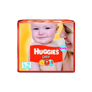 Huggies New Dry Diapers Large 16s