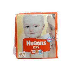 Huggies New Dry Diapers Medium 62s