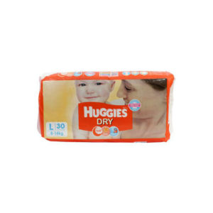 Huggies New Dry Large Diapers 30s