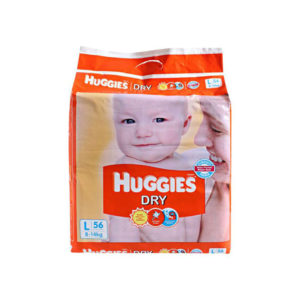 Huggies New Dry Large Diapers 56s