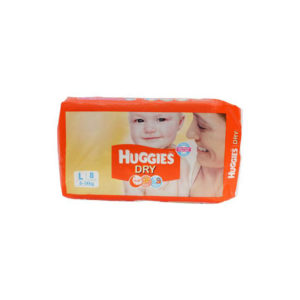 Huggies New Dry Large Diapers 8s