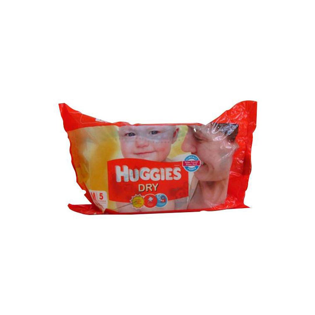 Huggies New Dry Medium Diapers 5s