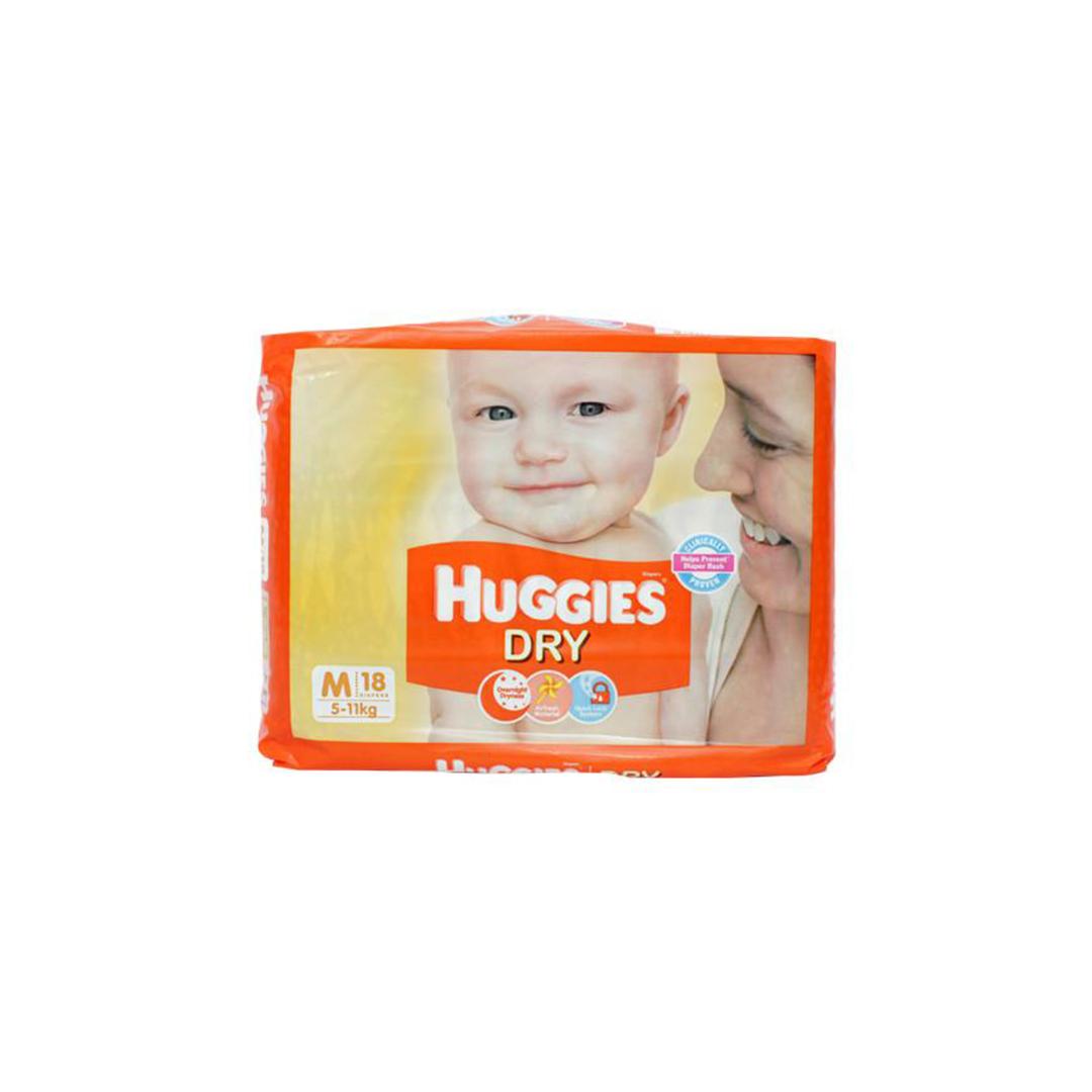 Huggies New Dry Medium Diapers 9s
