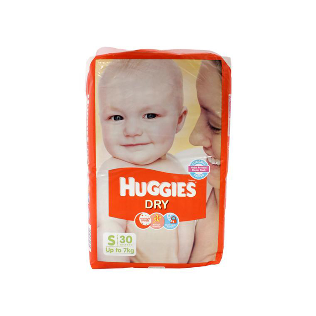 Huggies New Dry Small Diapers 30s