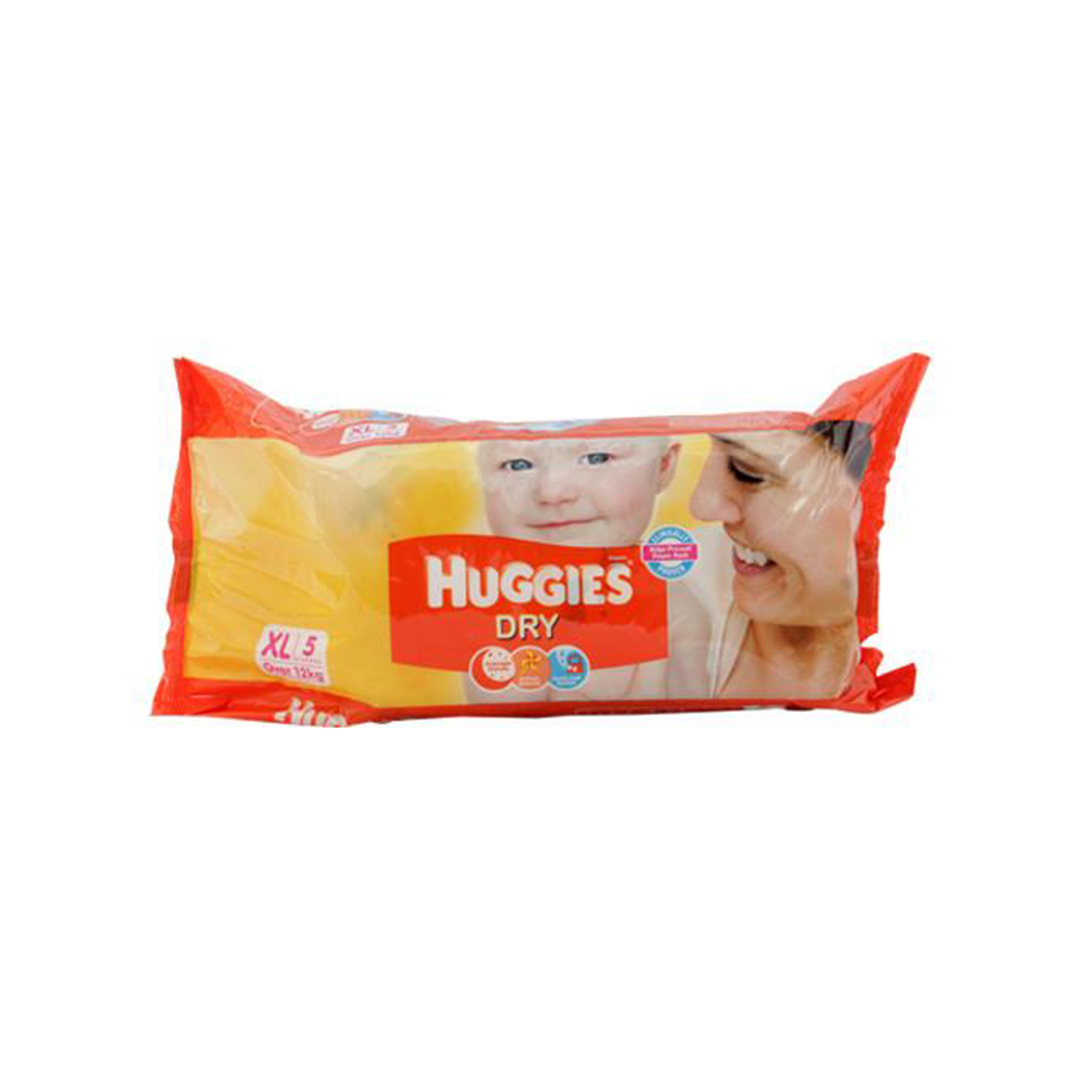Huggies New Dry Xtra Large Diapers 5s