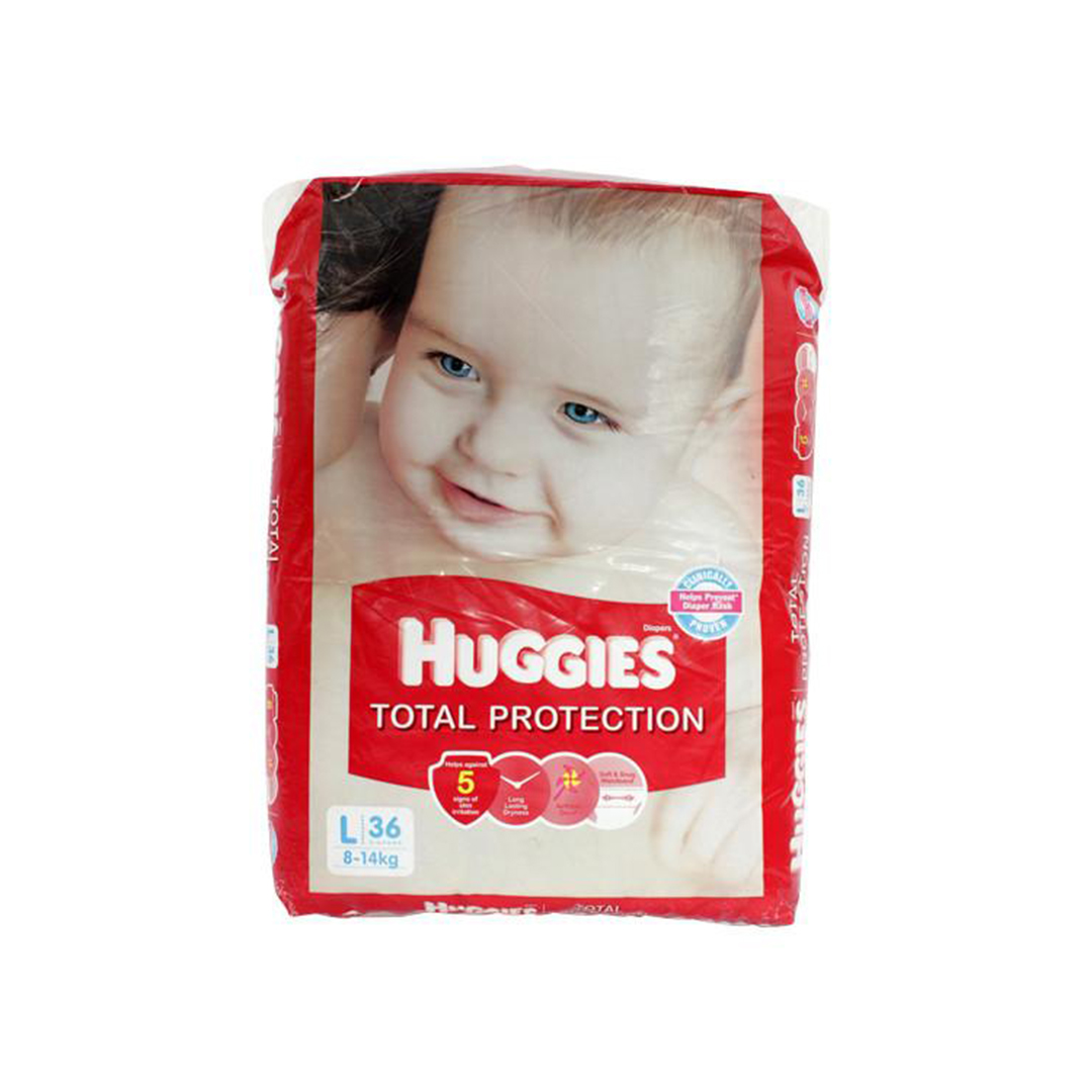 Huggies Total Protection Large 36s Diapers