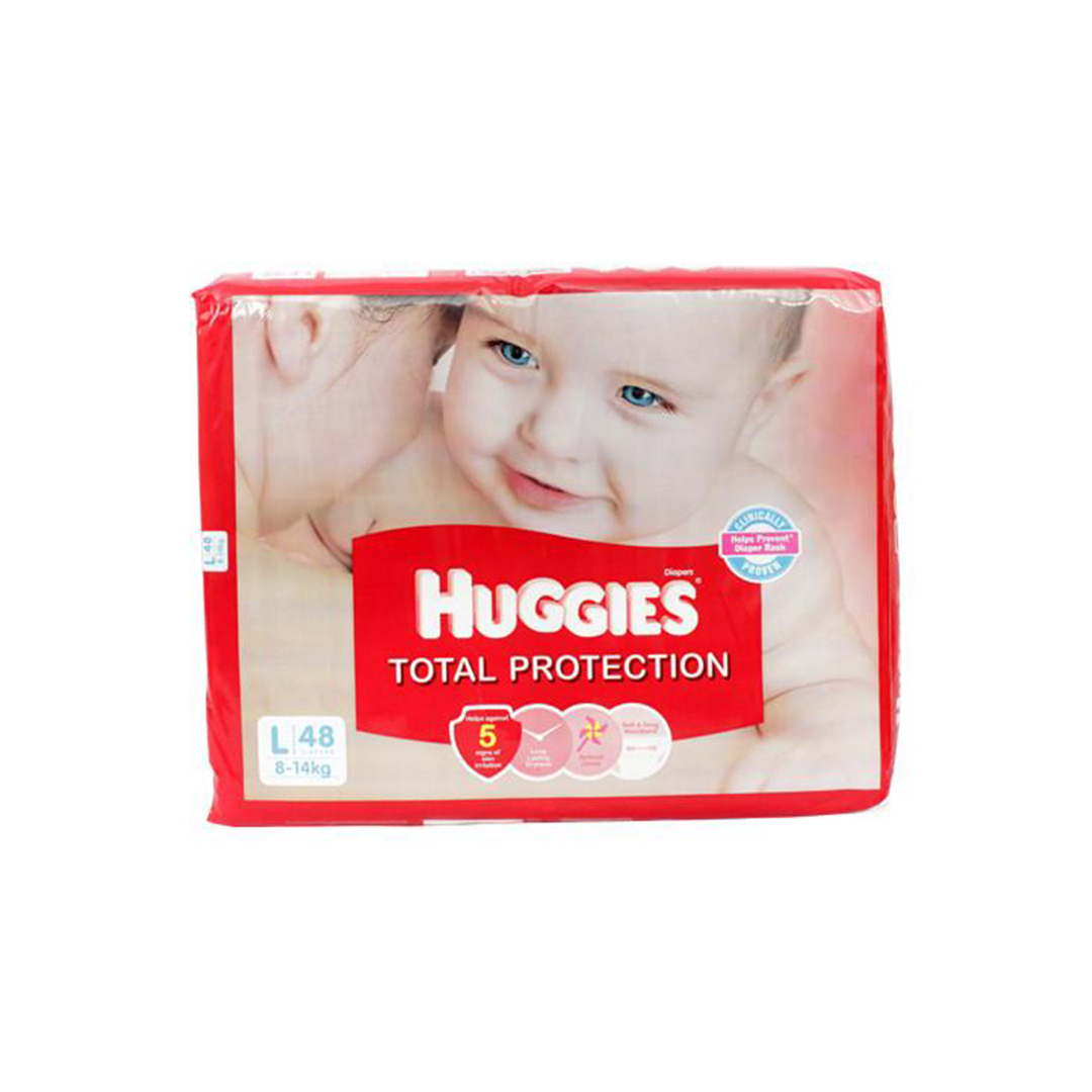 Huggies Total Protection Large 48s Diapers