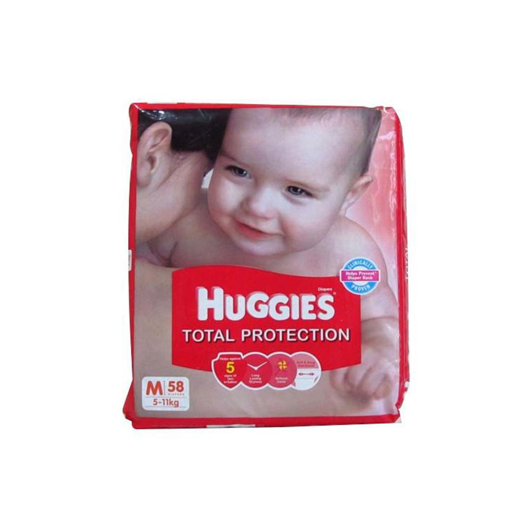 Huggies Total Protection Medium 58s Diapers