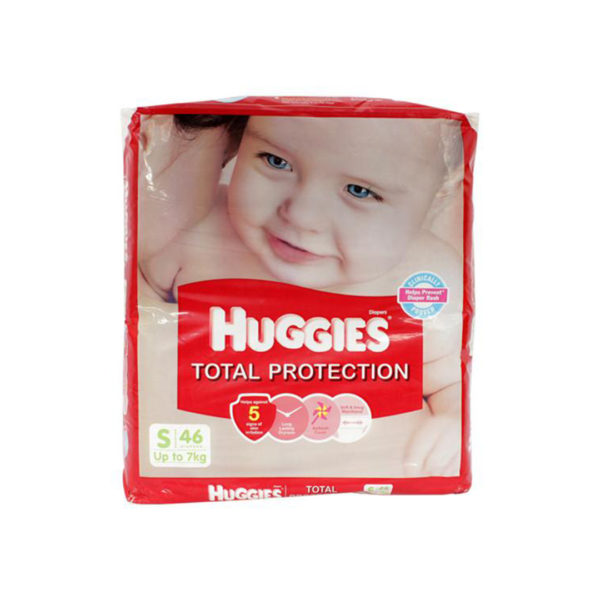 Huggies Total Protection Small 46s Diapers