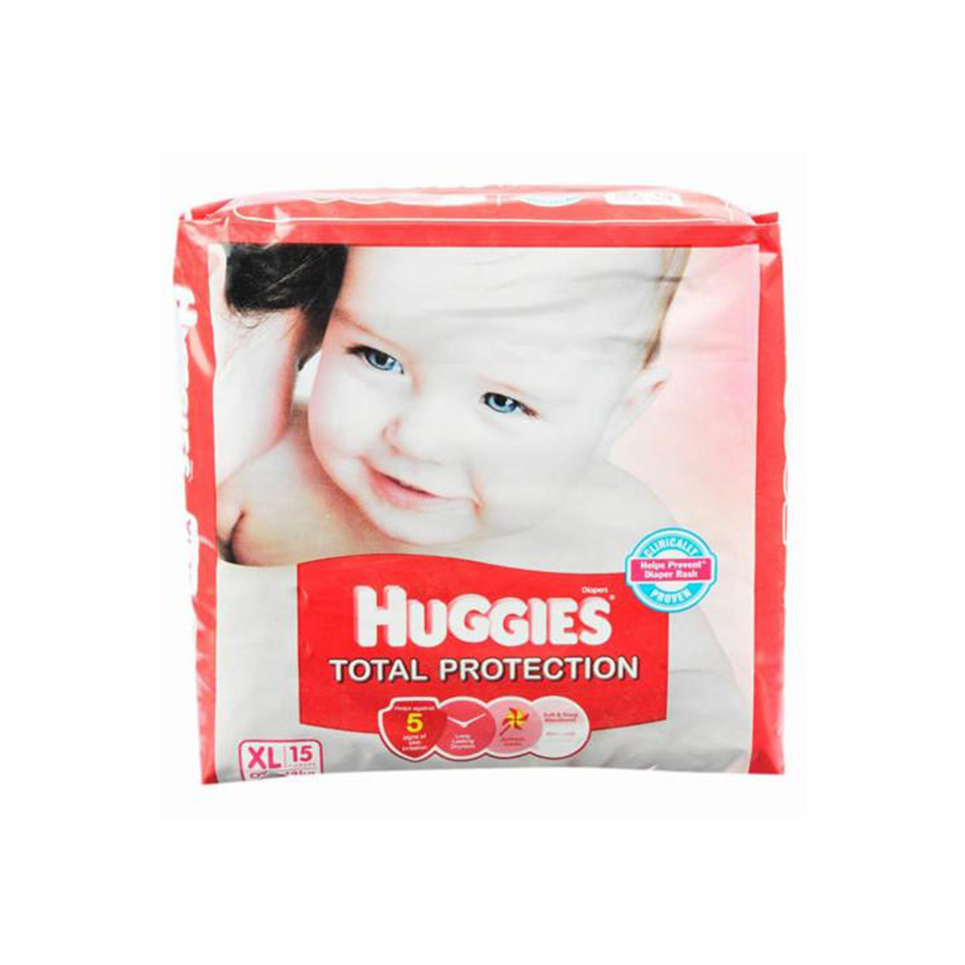 Huggies Total Protection Xl Diapers 15s