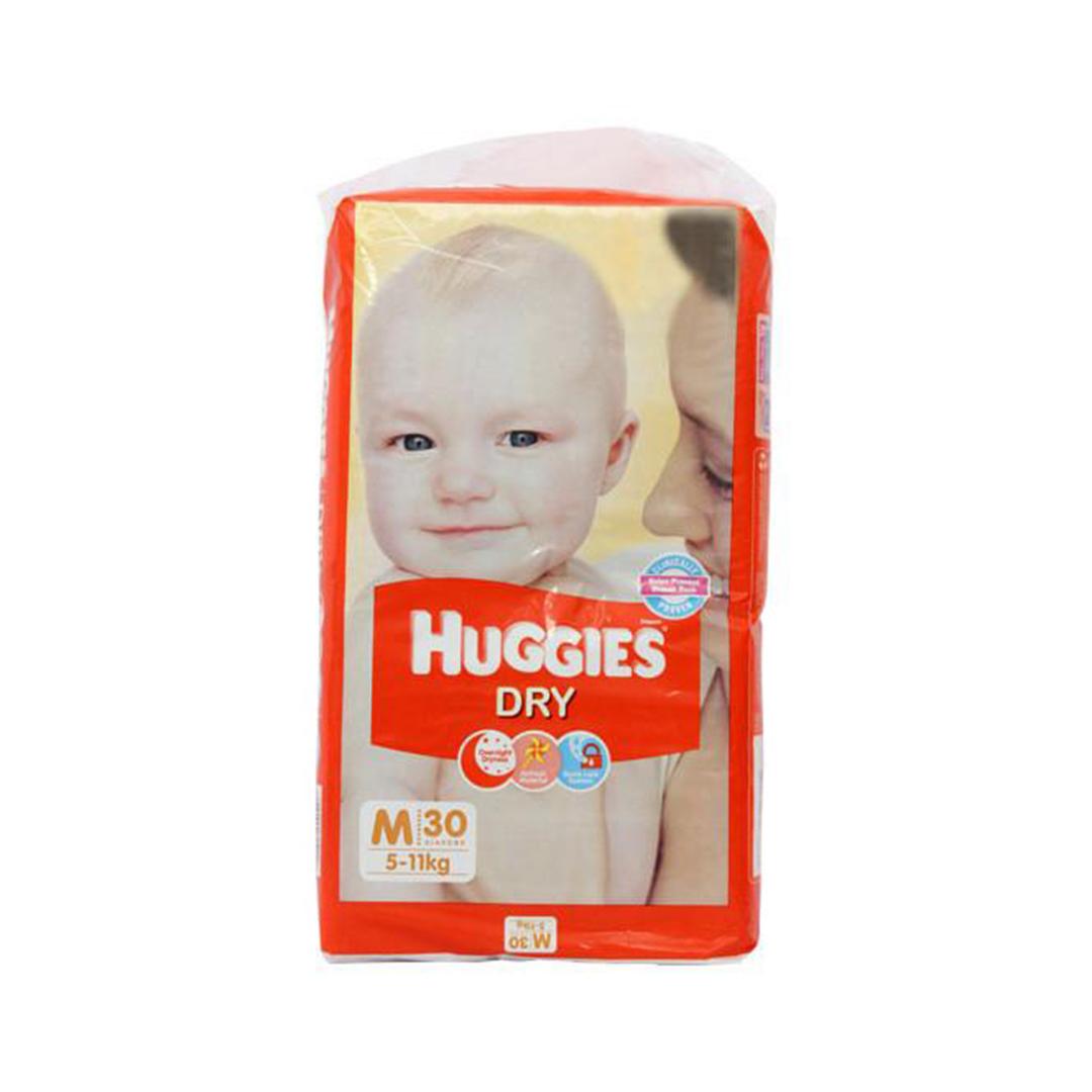 Huggies new dry medium diapers 30s