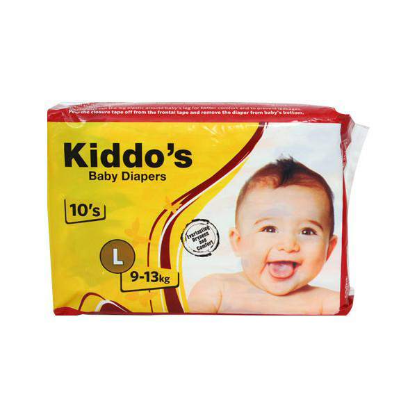 KiddoGCOs Baby Diapers Large 10s