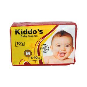 KiddoGCOs Baby Diapers Medium 10s