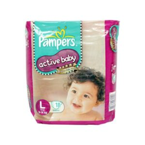 Pampers Active Baby Diapers L 18s